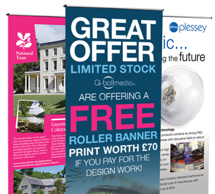 Free Banner offer from q-ball media in devon